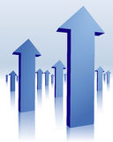 Frecce blu Fotografia Stock Libera da Diritti