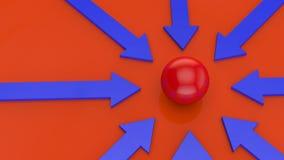 Frecce blu Fotografia Stock
