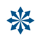 Frecce blu dinamiche Immagine Stock Libera da Diritti