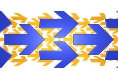 Frecce blu ed arancioni Immagine Stock Libera da Diritti