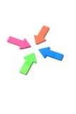 Frecce che contrassegnano un punto Fotografie Stock Libere da Diritti