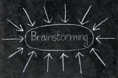 Frecce che indicano al 'brainstorming'. Fotografie Stock Libere da Diritti