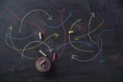 Frecce colorate curvilinee Fotografia Stock Libera da Diritti