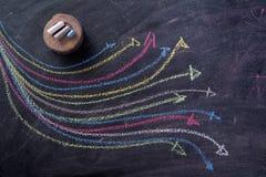 Frecce colorate curvilinee Immagini Stock