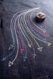Frecce colorate curvilinee Fotografie Stock Libere da Diritti