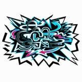 Frecce colorate del fondo dei graffiti sull'illustrazione bianca del fondo illustrazione vettoriale