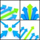 frecce 3d illustrazione di stock