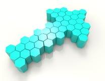 frecce 3D Elemento di disegno Fotografie Stock Libere da Diritti