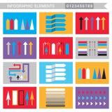 Frecce degli elementi di Infographic, segni, barre, bottoni, confini ecc illustrazione di stock