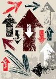Frecce dei rifiuti Immagine Stock