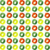 Frecce del cerchio di colore del modello Fotografia Stock