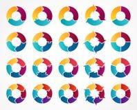 Frecce del cerchio di vettore infographic Modello per Immagini Stock