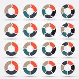 Frecce del cerchio di vettore per l'affare infographic Fotografie Stock