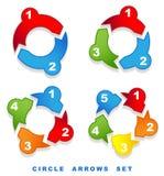 Frecce del cerchio impostate. Immagini Stock