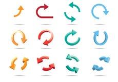 frecce del ciclo 3D Immagine Stock