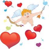 Frecce del Cupid Immagini Stock