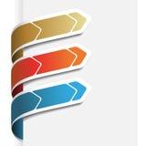 Frecce del menu di vettore sul Libro Bianco Fotografia Stock