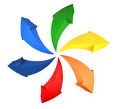 Frecce del Rainbow Fotografia Stock Libera da Diritti