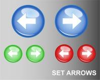 Frecce del tasto di RGB Illustrazione di Stock
