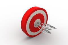 Frecce dell'obiettivo Illustrazione di Stock