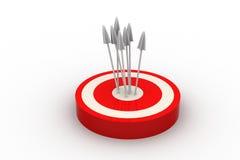 Frecce dell'obiettivo Illustrazione Vettoriale