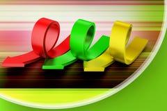 Frecce della curvatura illustrazione di stock