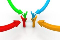 frecce della gente 3d e del grafico Fotografie Stock Libere da Diritti