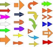 Frecce di colore Fotografie Stock