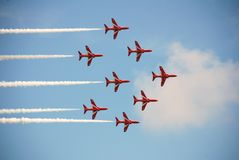Frecce di colore rosso di RAF fotografia stock libera da diritti