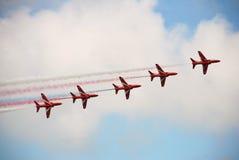 Frecce di colore rosso di RAF Fotografia Stock
