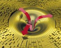Frecce di colore rosso di turbine Fotografie Stock