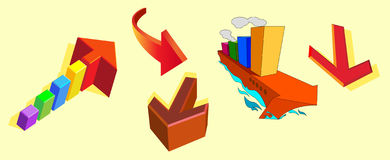 Frecce di colore illustrazione vettoriale