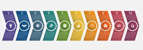 Frecce di cronologia dieci posizioni Immagine Stock Libera da Diritti