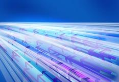 Frecce di direzione che si muovono velocemente attraverso le linee Fotografia Stock