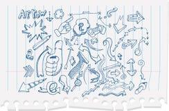 Frecce di Doodle Fotografia Stock Libera da Diritti
