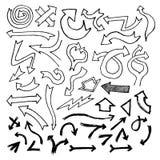 Frecce di Doodle Fotografie Stock