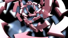 Frecce di filatura 3D illustrazione di stock