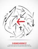 Frecce di Grunge impostate Fotografie Stock