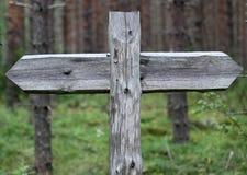 Frecce di legno Fotografia Stock