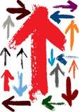 Frecce di lerciume illustrazione di stock