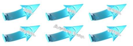 Frecce di plastica di WEB Fotografie Stock Libere da Diritti