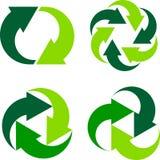 Frecce di riciclaggio Fotografia Stock