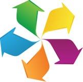 Frecce di rotazione Fotografia Stock