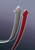 Frecce di successo Fotografia Stock