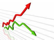 Frecce di successo illustrazione di stock