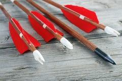 Frecce di tiro con l'arco fotografia stock libera da diritti
