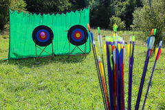 Frecce di tiro con l'arco Fotografia Stock