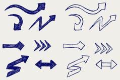 Frecce di vettore illustrazione di stock