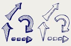 Frecce di vettore illustrazione vettoriale