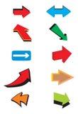Frecce di vettore Fotografie Stock Libere da Diritti